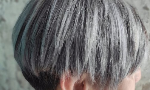 un gris naturel sur un brun , au top